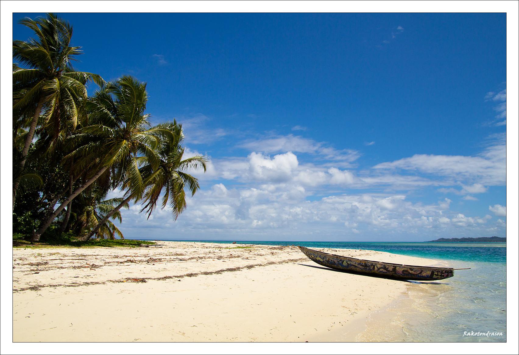 La plage de l'île aux Nattes